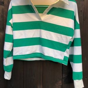 Green striped Charlotte russe long sleeve